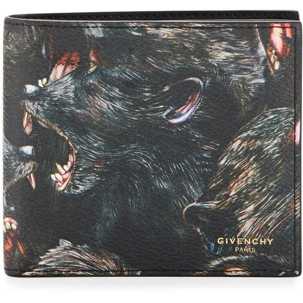 fb7b64dc5fb2 Givenchy Monkey Brothers Bifold Wallet ($395) ❤ liked on Polyvore featuring  men's fashion,