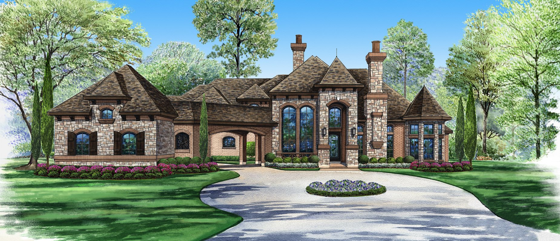 Eisenhower house plan from 6500 for Estate home designs