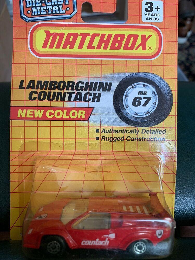 Matchbox 67 Countach Red Car eBay