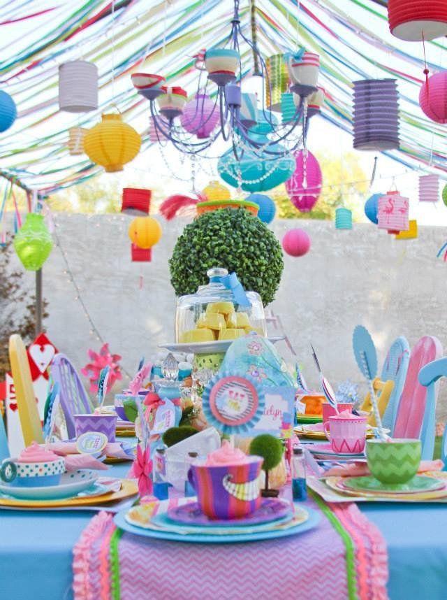 Wonderland Birthday Party Mad Hatter Party Alice In Wonderland