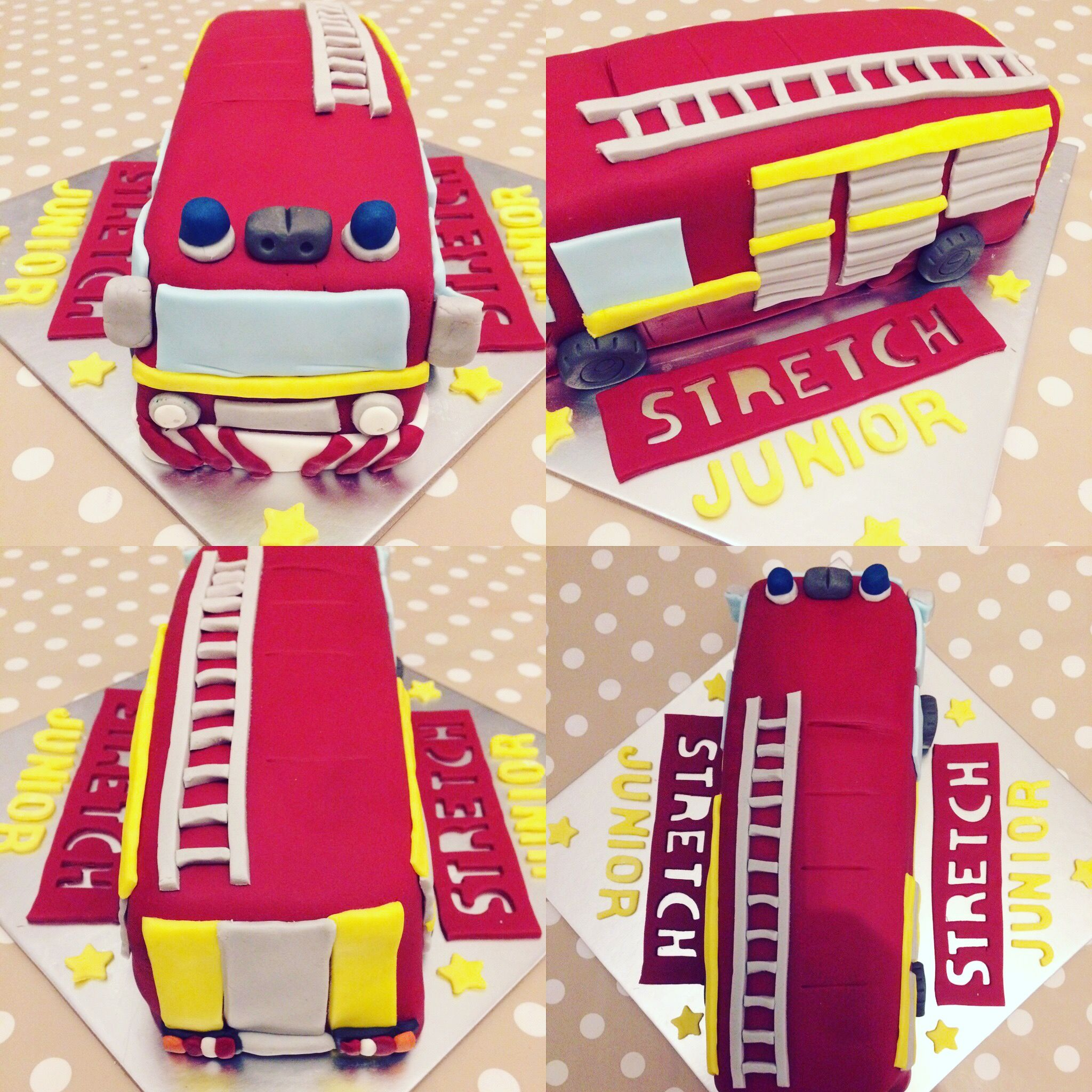 Fire engine cake to celebrate a new arrival! From cafe