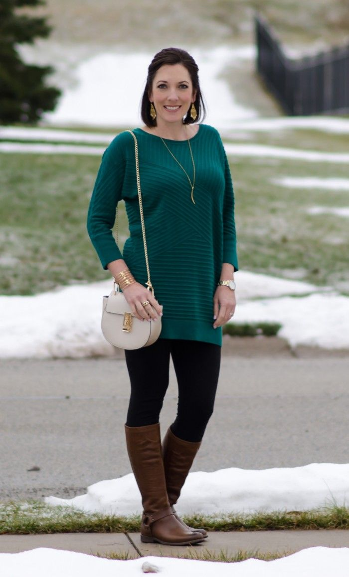 How to Wear Brown Boots with Black Pants and Dresses | Tunic ...