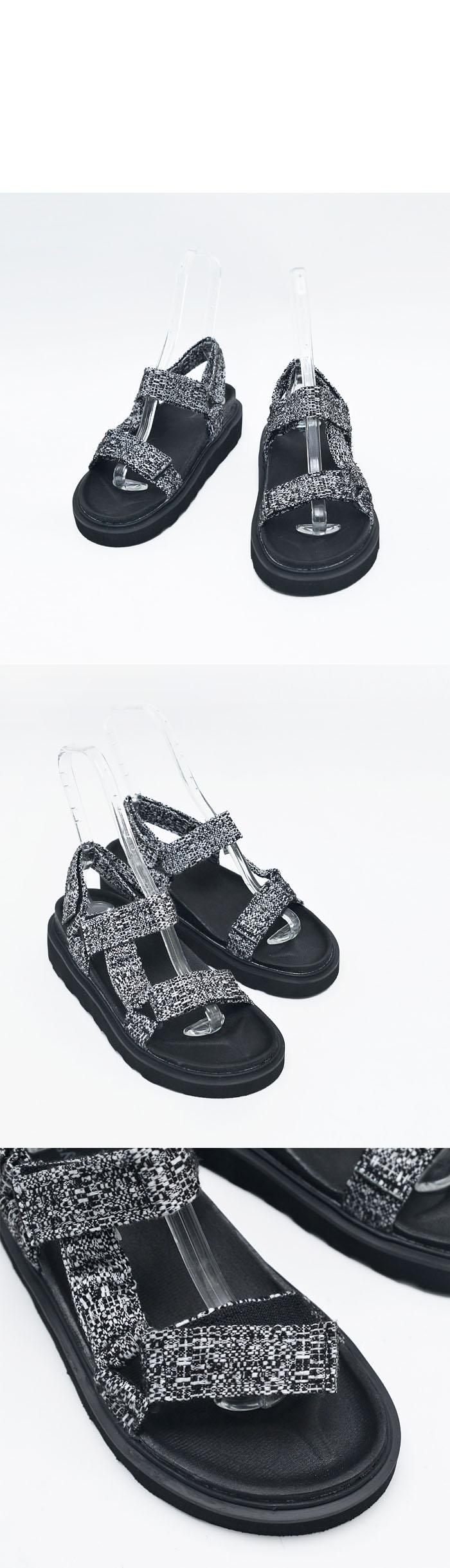 Height Increaing Fabric Buckle Sandal-Shoes 437 - GUYLOOK