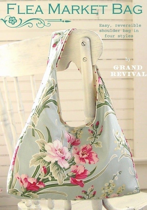 easy purse pattern for beginners Darling Reversible Shabby Chic Flea ...