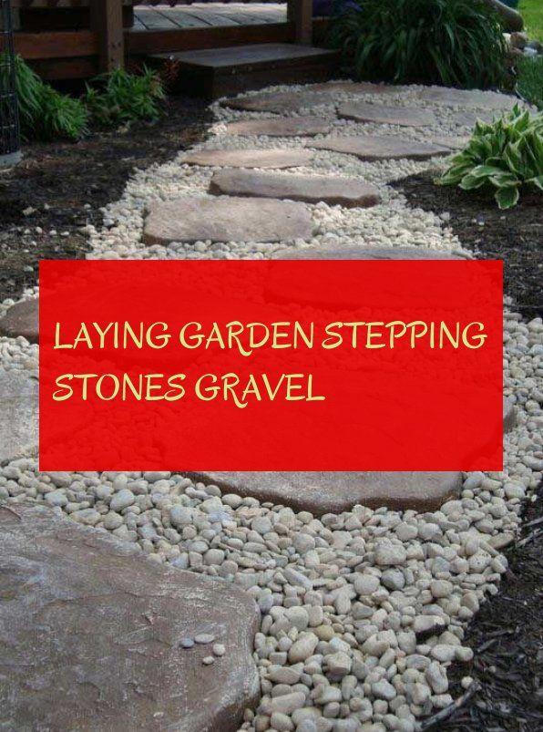 laying garden stepping stones gravel
