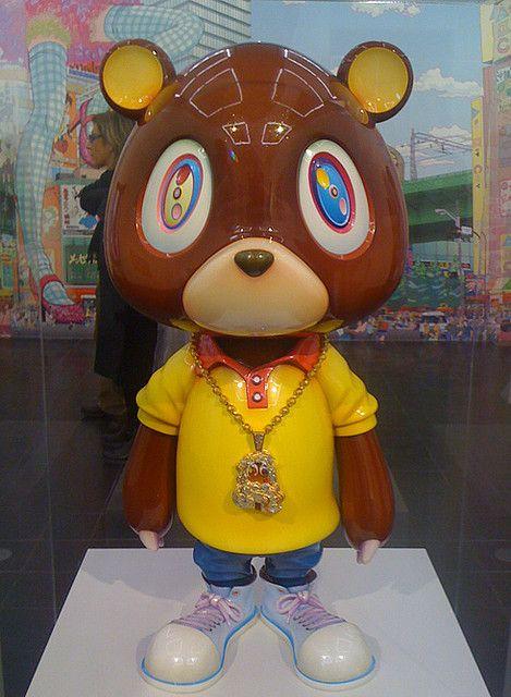 Takashi Murakami X Kanye West Bear Toy Hamburger Kunsthalle 2010 Takashi Murakami Murakami Art Toy