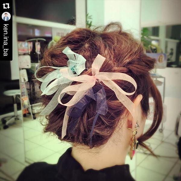 決定版 結婚式で使えるオーガンジーリボンのヘアアレンジ集 ヘア