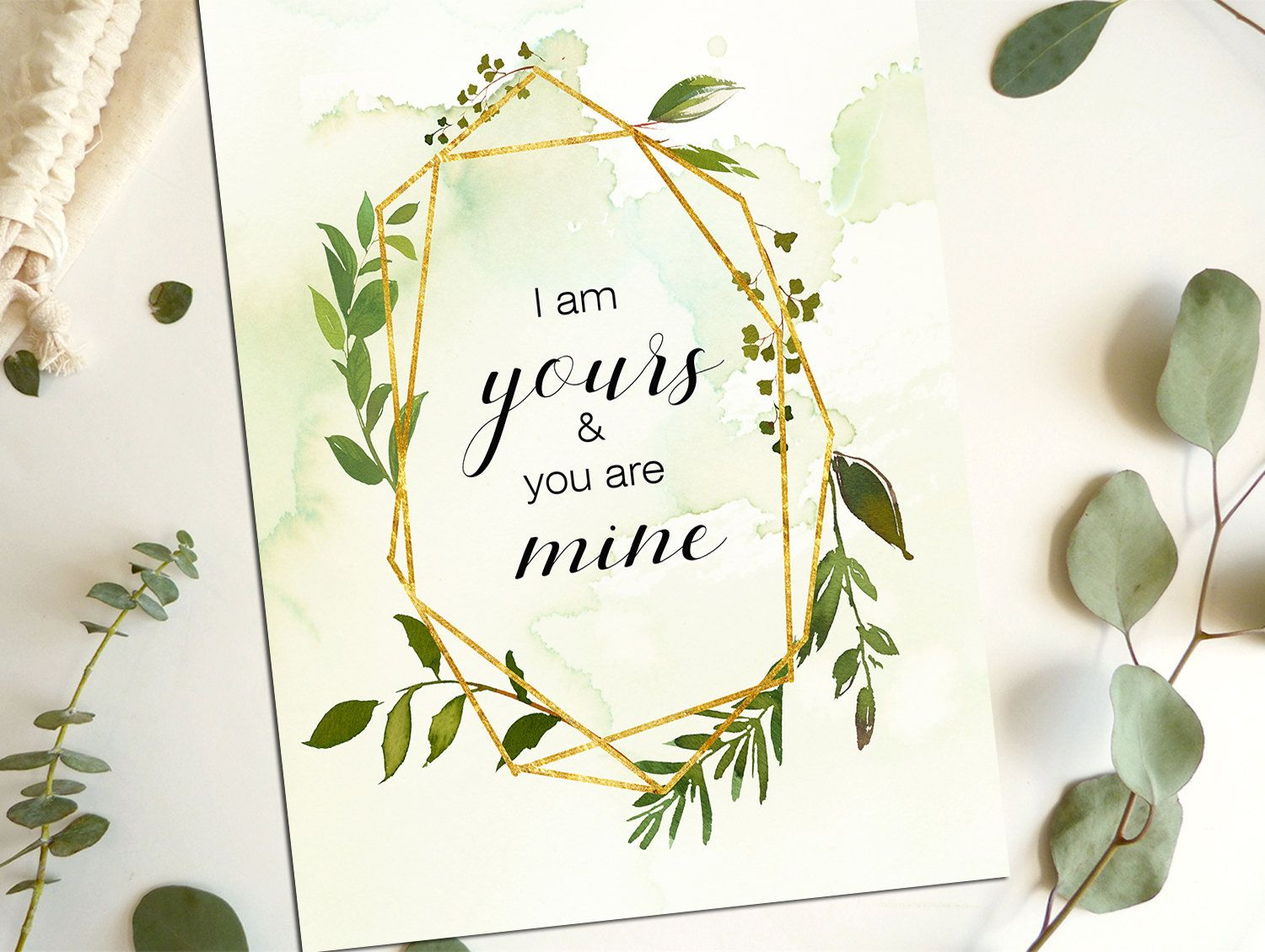 Wedding decorations quotes  I am yoursWedding QuotesLove QuotesLove PrintWedding Printable