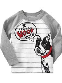 Humor-Graphic Raglan-Sleeve Tees for Baby