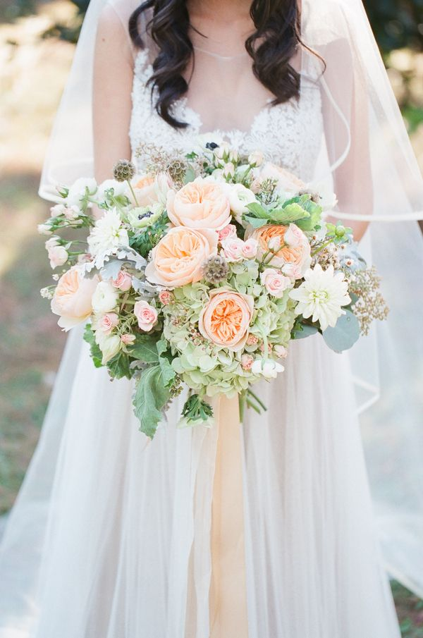 romantic florida wedding by j layne photography - Garden Rose Bouquet