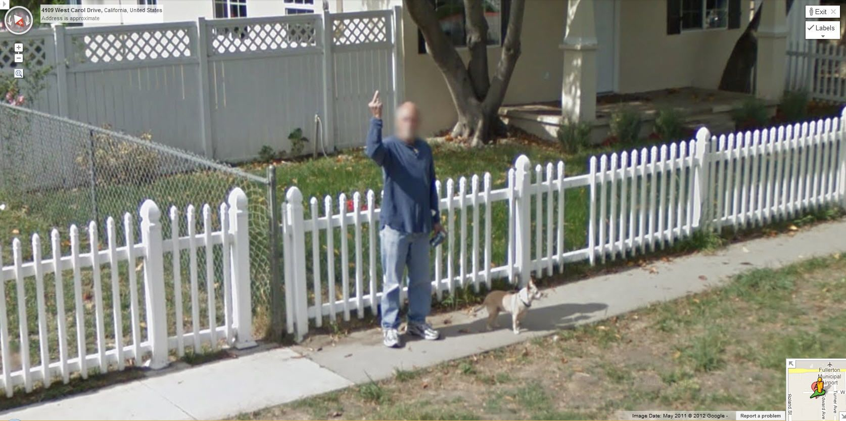 Odd google maps street view picture