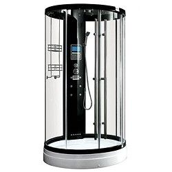 Taps4less Hydra Round Steam Shower Enclosure With Tv Led Lights 1230x2250 Taps4less Com Steam Shower Enclosure Shower Enclosure Steam Showers