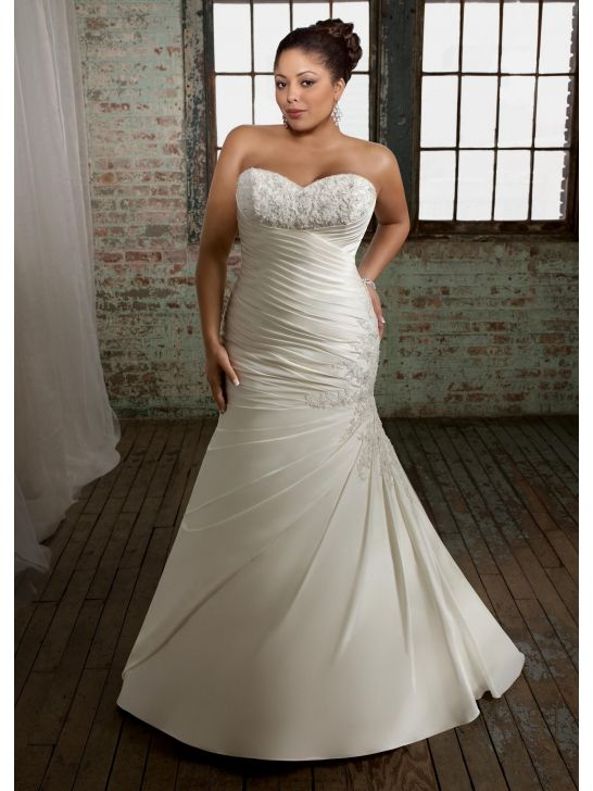 Flattering satin and taffeta strapless mermaid wedding dresses with flattering satin and taffeta strapless mermaid wedding dresses with beautiful beaded embroidery ml3105 junglespirit Image collections