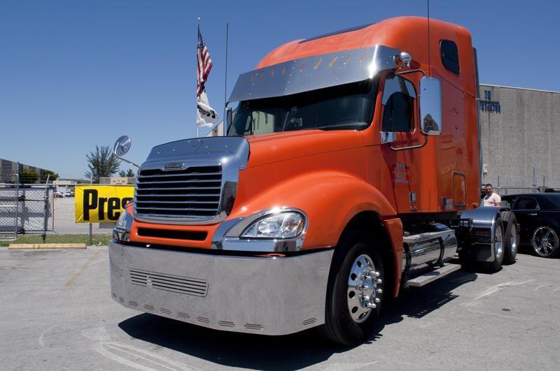 Black Headlight W Led Light Bar Fits Freightliner Columbia Freightliner Freightliner Trucks Trucks