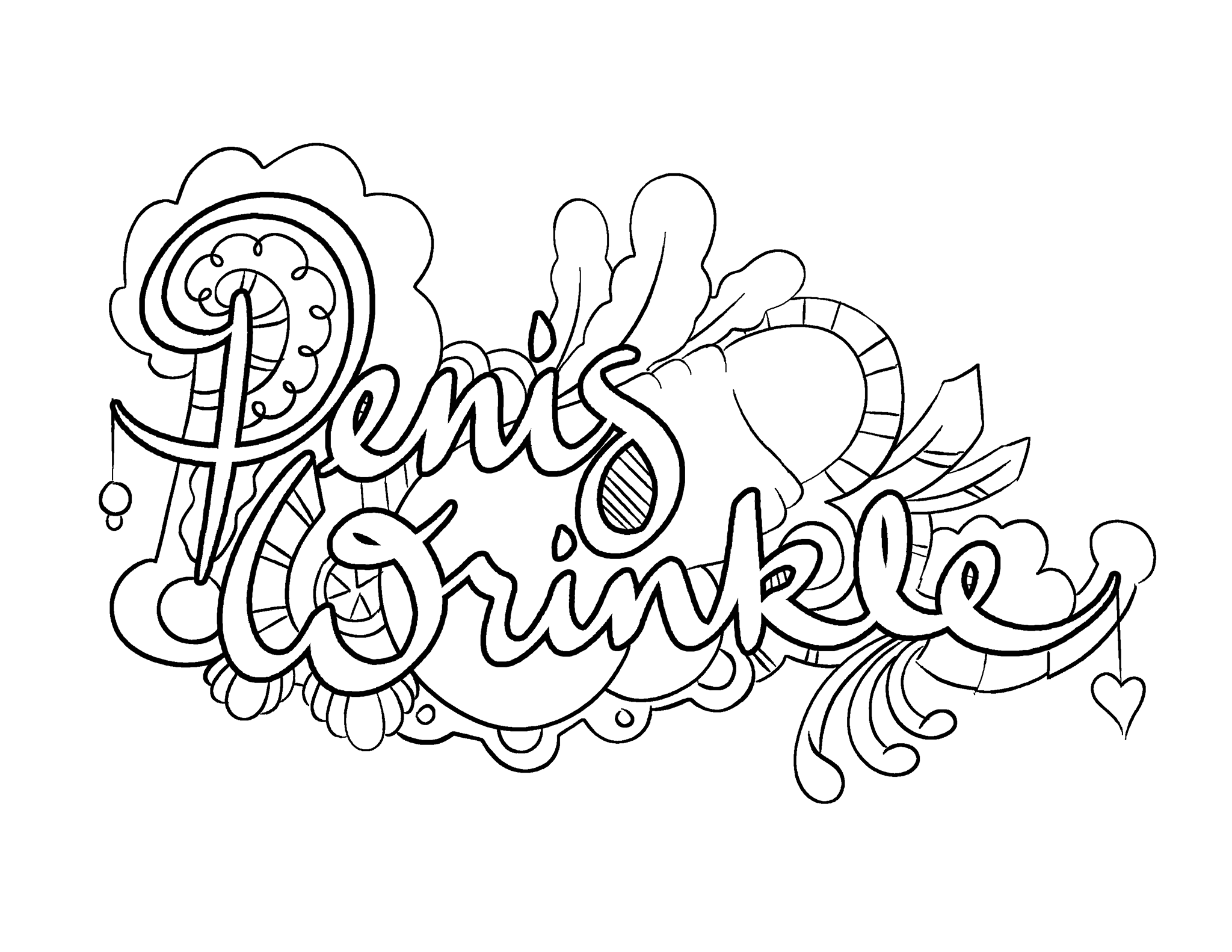Great Penis Wrinkle   Coloring Page By Colorful Language © 2015. Posted With  Permission, Reposting