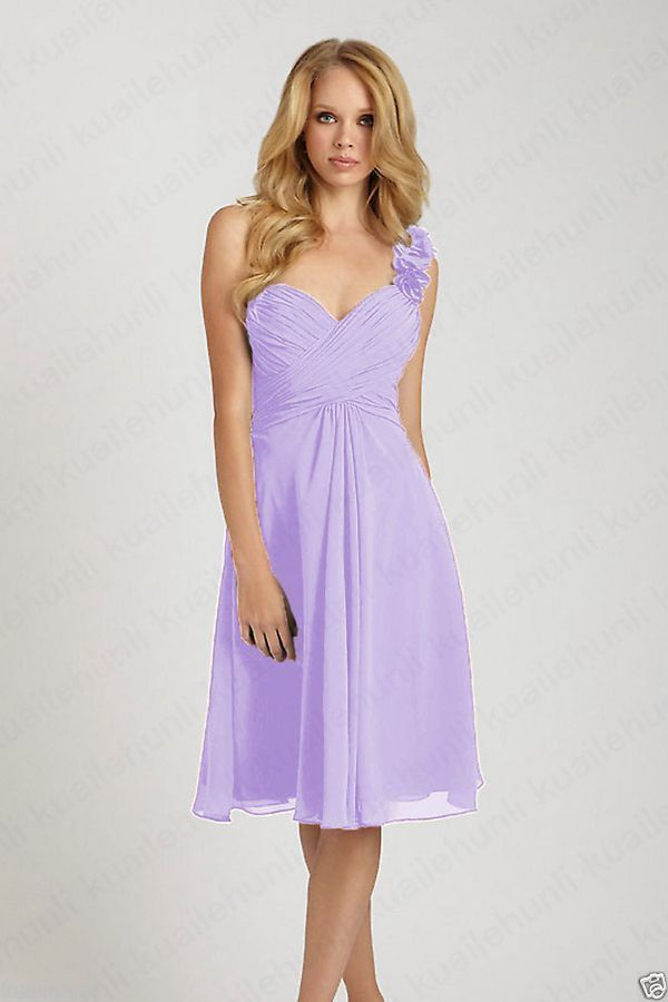2015 Short Knee Length Formal Cocktail Formal Bridesmaid Party Prom ...