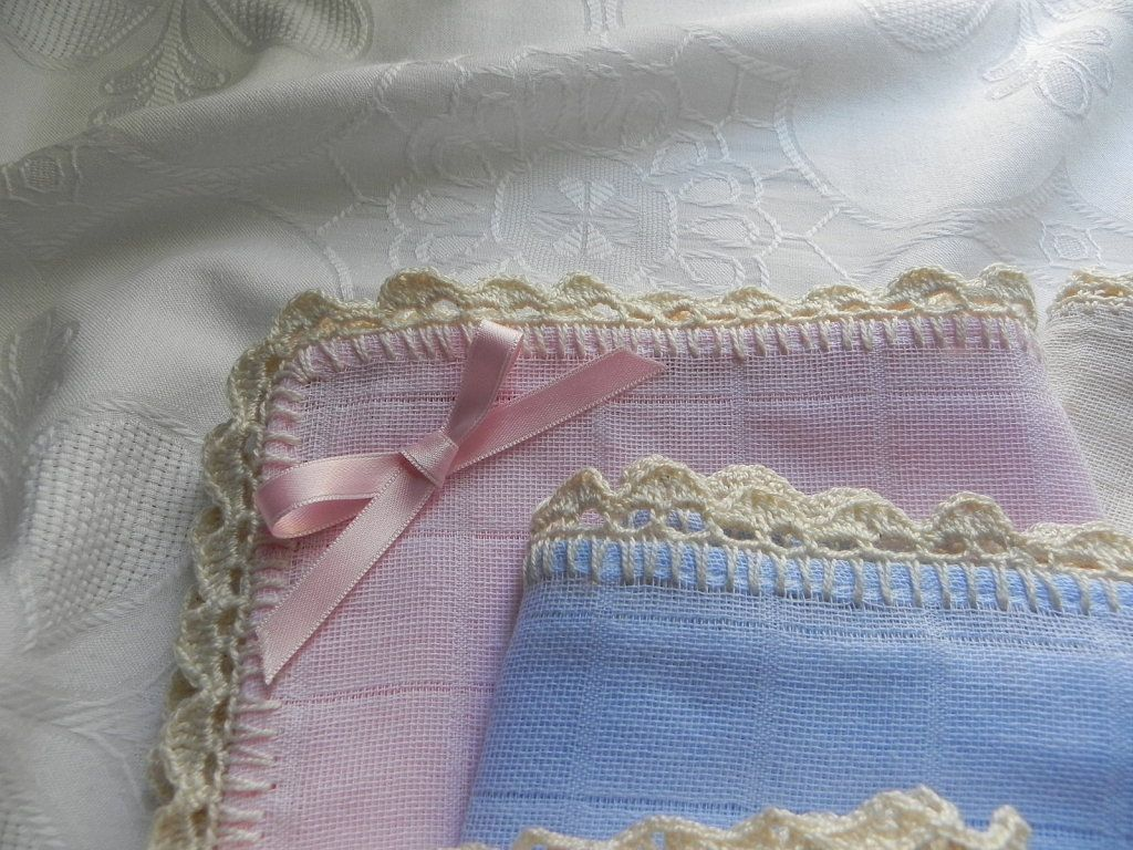 Puntillas de crochet para gasas de bebe buscar con - Puntas de ganchillo ...