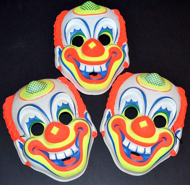 Vintage Masks for Sale Vintage clown, Vintage halloween