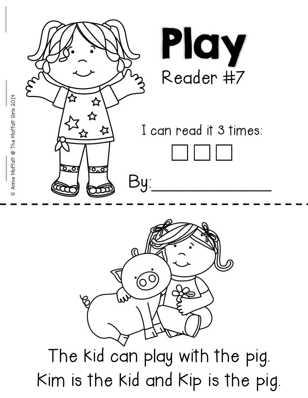 Emergent Readers that kids can read with decodable words