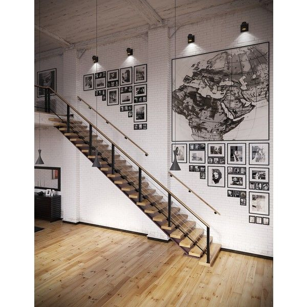 Industrial Loft With Organic Traits [Visualized] ❤ liked on Polyvore featuring rooms, backgrounds, home, interior and house