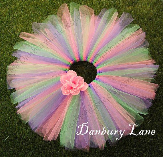 Pink Baby tutu with purple and green 1st Birthday by DanburyLane, $23.95