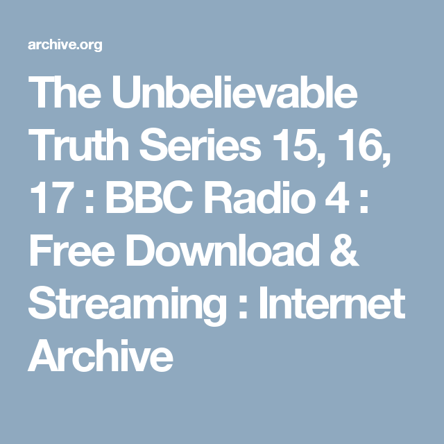 the unbelievable truth podcast download