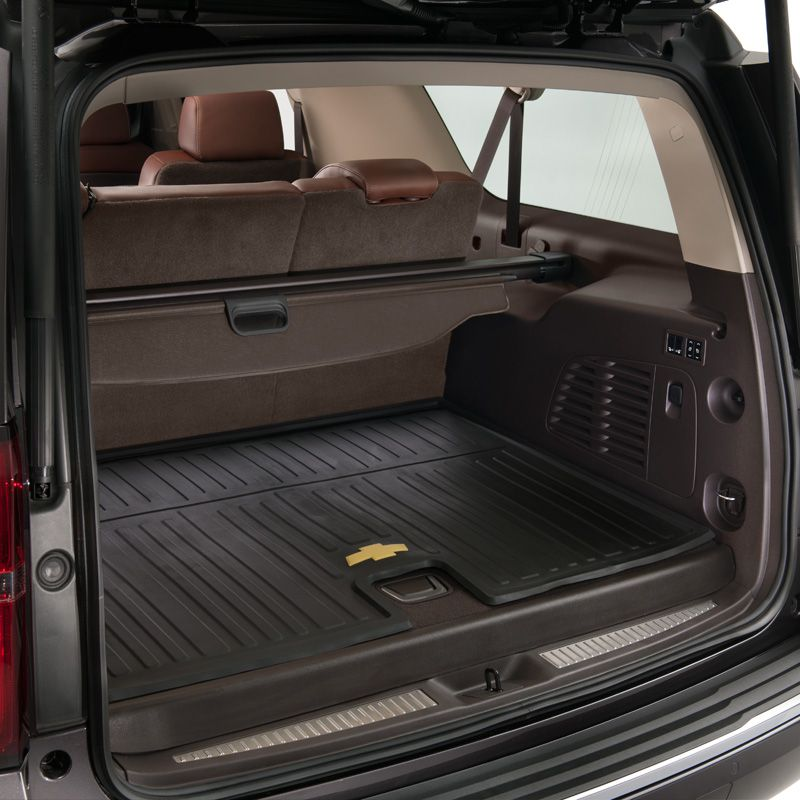 Suburban Cargo Area Floor Mat Premium All Weather Ebony This Precision Designed Premium All We Chevrolet Suburban Chevrolet Accessories Glass Doors Interior