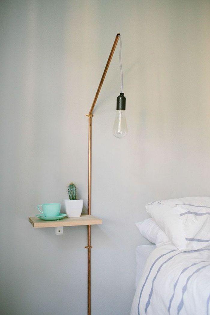 installer une table de nuit suspendue prs de son lit les avantages archzinefr - Table De Nuit Etagere