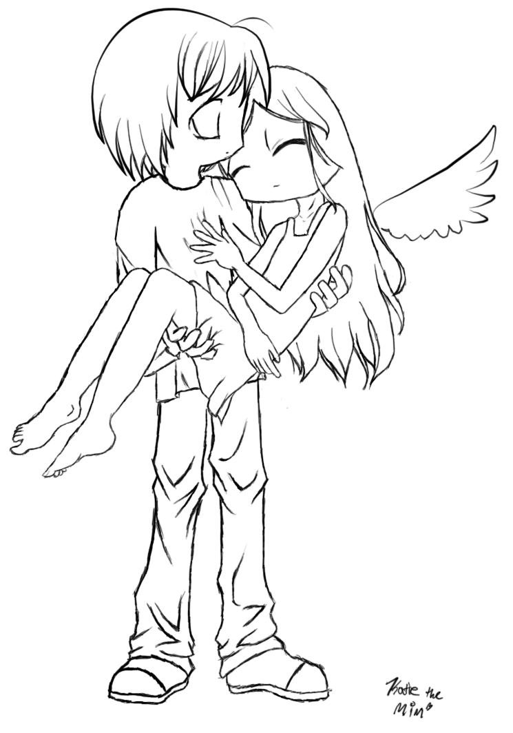 Fallen Angel Lineart By Mimblewimble On Deviantart Angel Drawing Angel Coloring Pages Anime Angel Girl