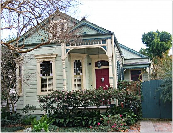New orleans cottage home with victorian porch Prefab shotgun house