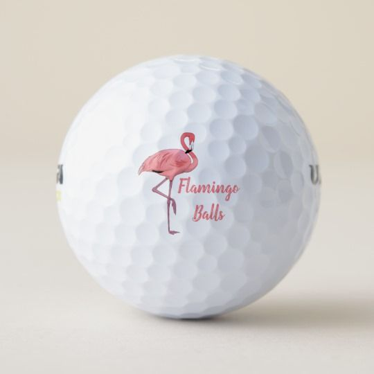 Pink Flamingo Golf Humor Golf Balls #golfhumor