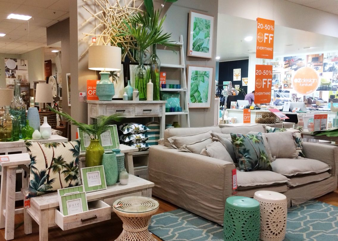 Visual Merchandising Green Aqua Rustic Furniture Palms Sofa Lounge Comfy Oz  Design Furniture