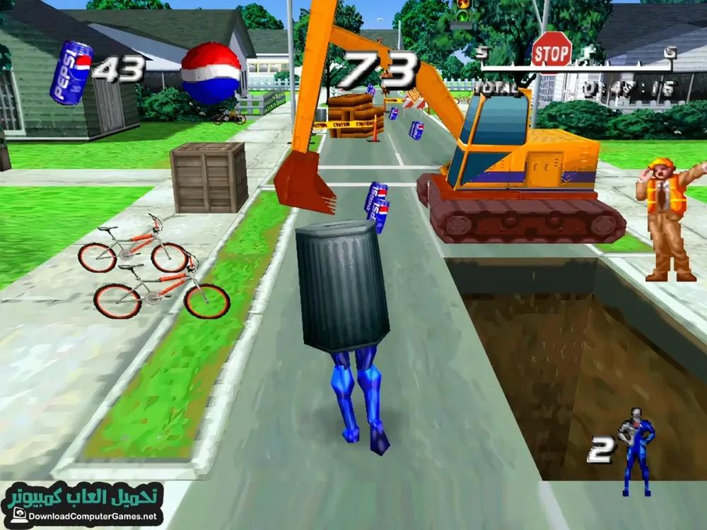 تحميل لعبة بيبسي مان القديمة من ميديا فاير مضغوطة على الكمبيوتر والموبايل مجانا Pepsi Man Baseball Field Pepsi