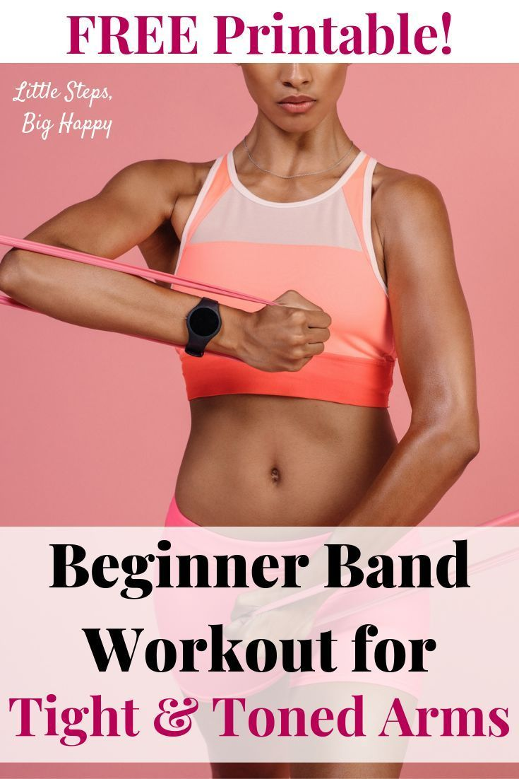 Beginner Band Workout for Tight and Toned Arms  Check out this printable beginn  Beginner Fitness Routines #beginnerarmworkouts Beginner Band Workout for Tight and Toned Arms  Check out this printable beginn  Beginner Fitness Routines #armbandworkouts