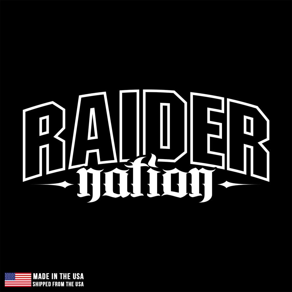 Raider Nation Sticker Car Decal Laptop Room Oakland LA Los Angeles - Custom vinyl decals las vegas