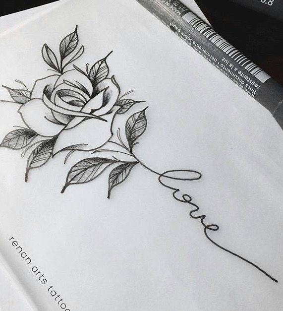 Pinterest Tanyacrumlishx Tatouage Rose Dessin