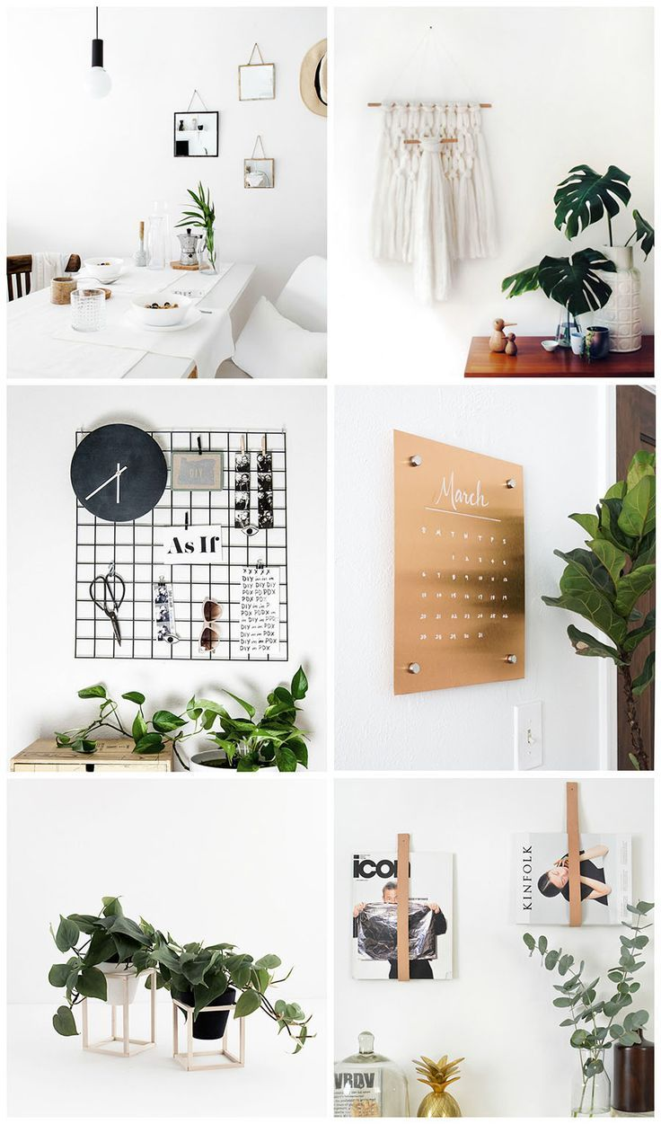 Simple and Modern DIYs for the Home Diy home decor, Home