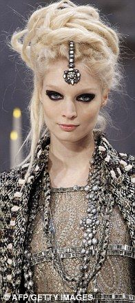 #Chanel Pre Fall 2012 -Head jewellery were the order of the day.