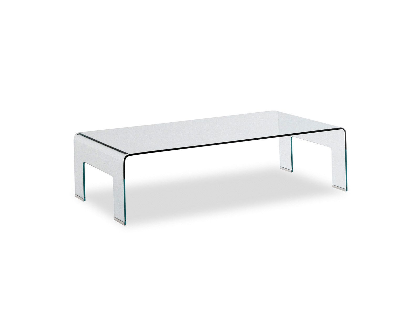 REAL Glass rectangular coffee table REAL model large sized glass
