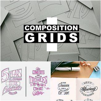 Composition Grids Lettering Bundle Композиция