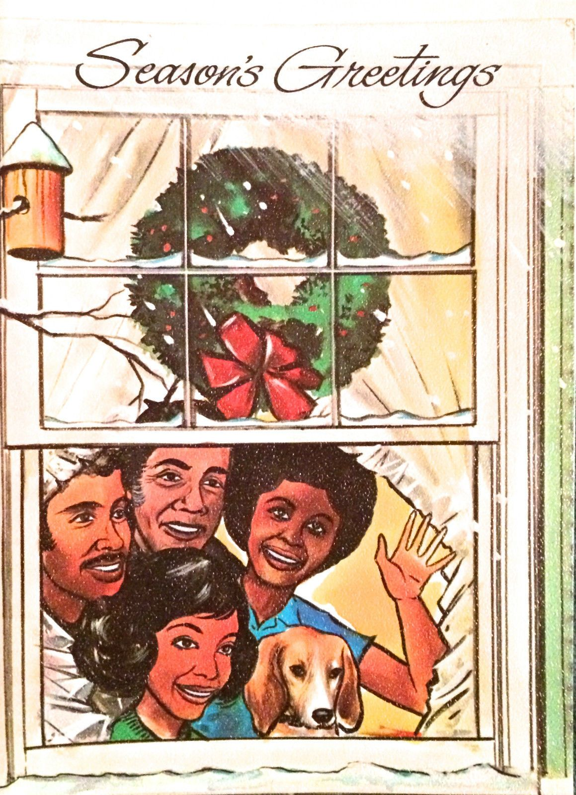 Vintage 1960s african american holiday christmas greeting card vintage 1960s christmas greeting card family kristyandbryce Image collections