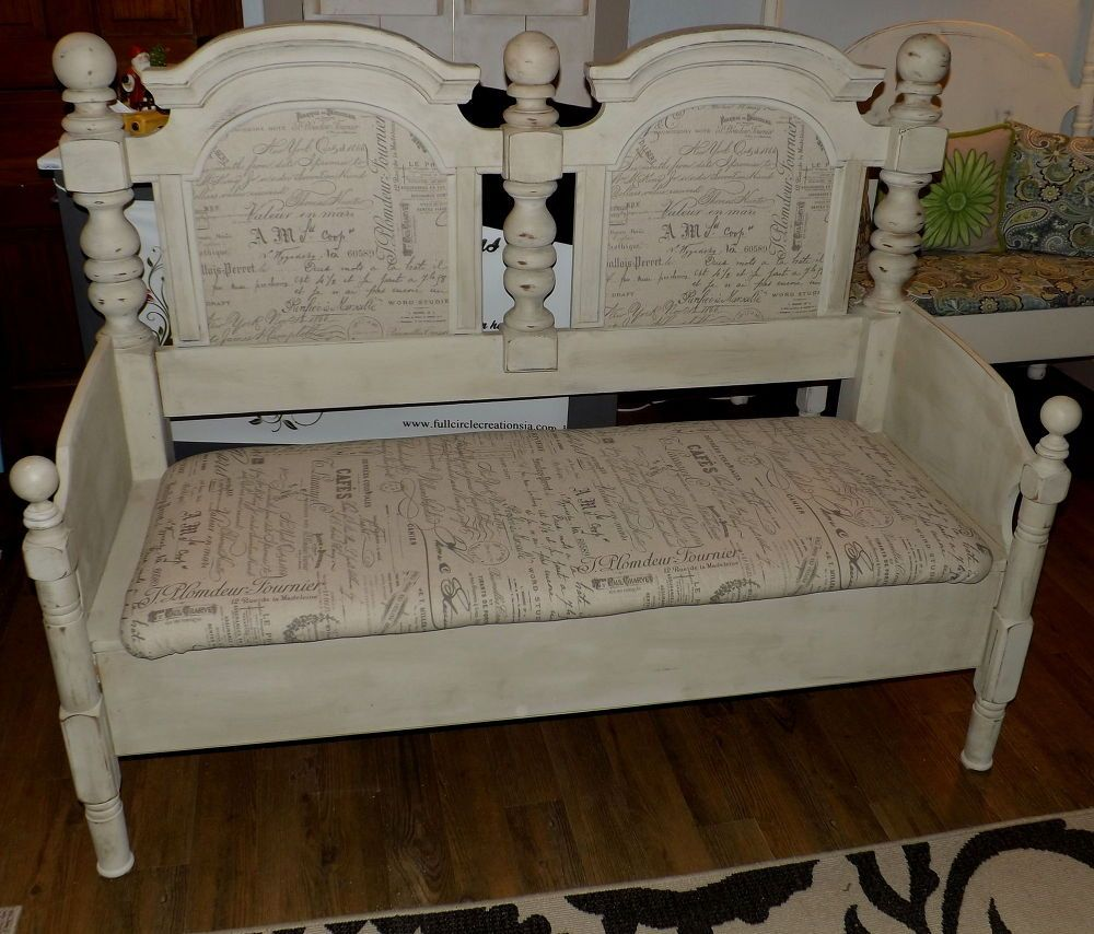 Headboard Bench Furniture makeover, Furniture, Upcycled