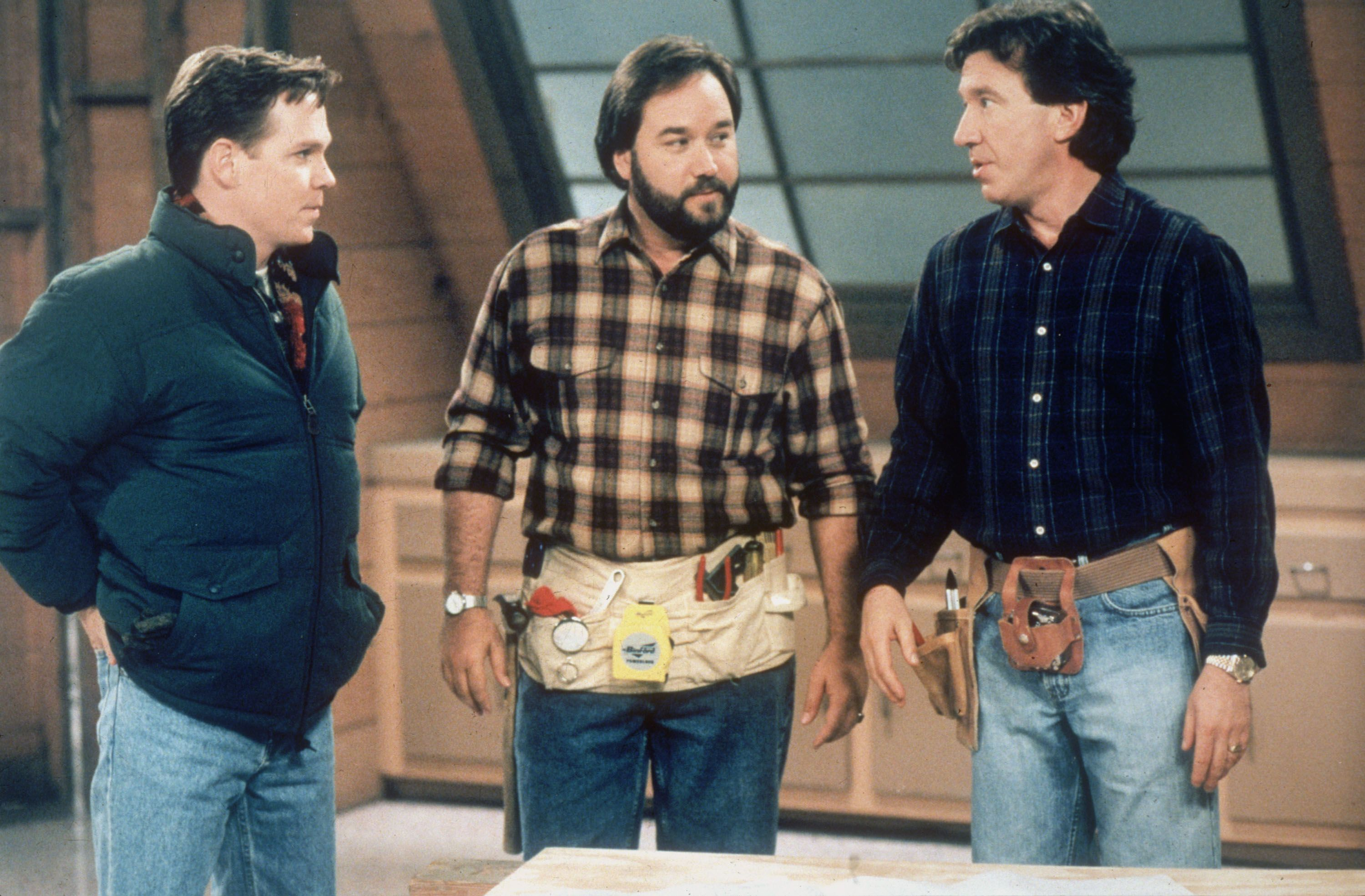 Home Improvement Tv Show Tim Allen Richard Karn And William O Leary As Tim S Brother Marty Home Improvement Tv Show Home Improvement Richard Karn