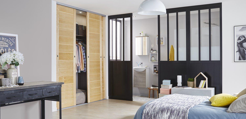 Une Cloison Amovible De Style Loft Pour La Chambre Avec Images Cloison Cloison Separation Cloison Interieure