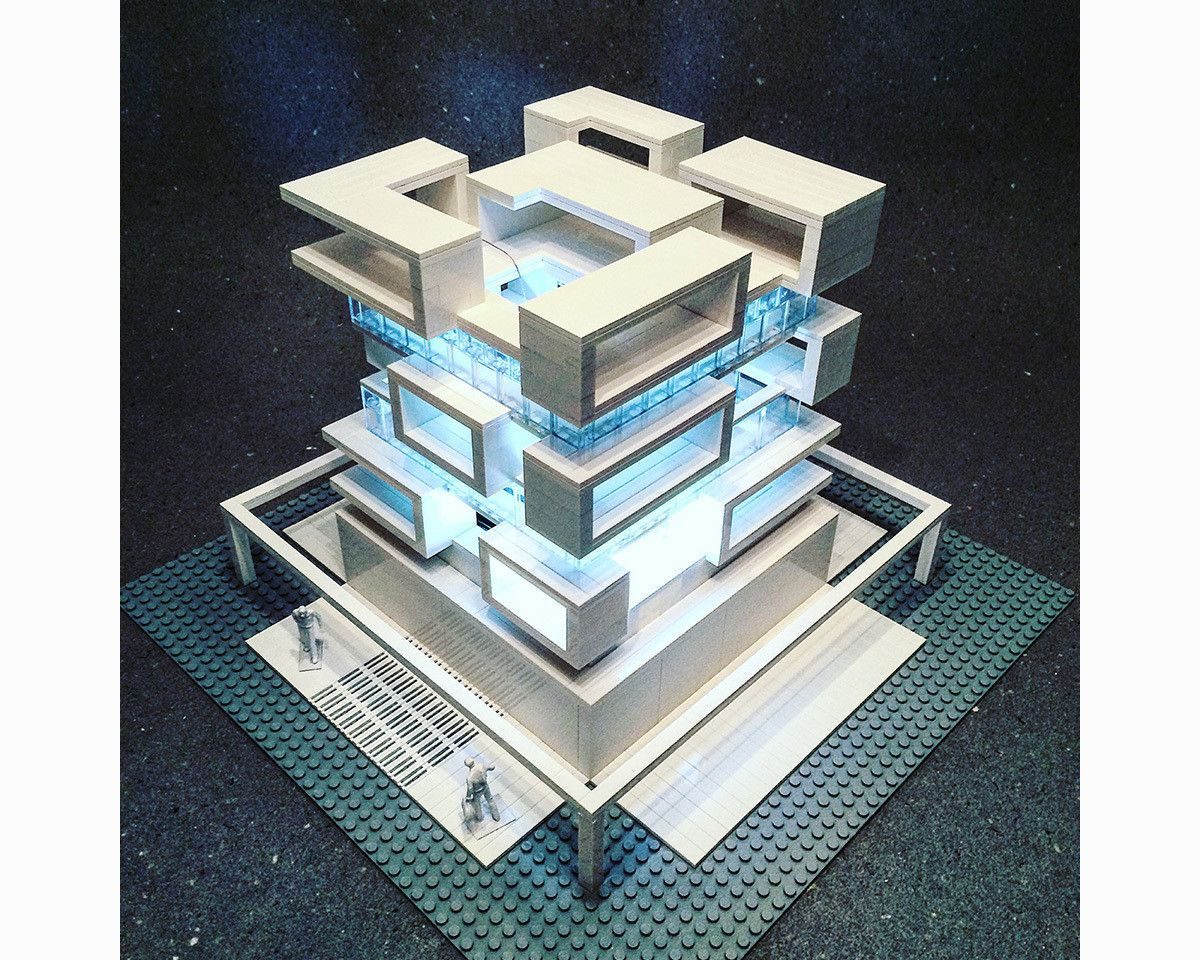 Modern Architecture Lego arndt schlaudraff builds intricate brutalist architecture with