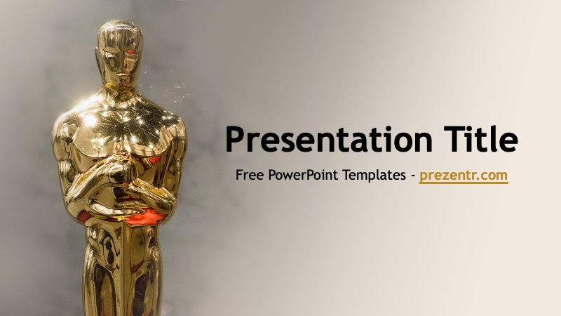 Free Oscars Powerpoint Template Prezentr Ppt Templates Powerpoint Templates Powerpoint Templates