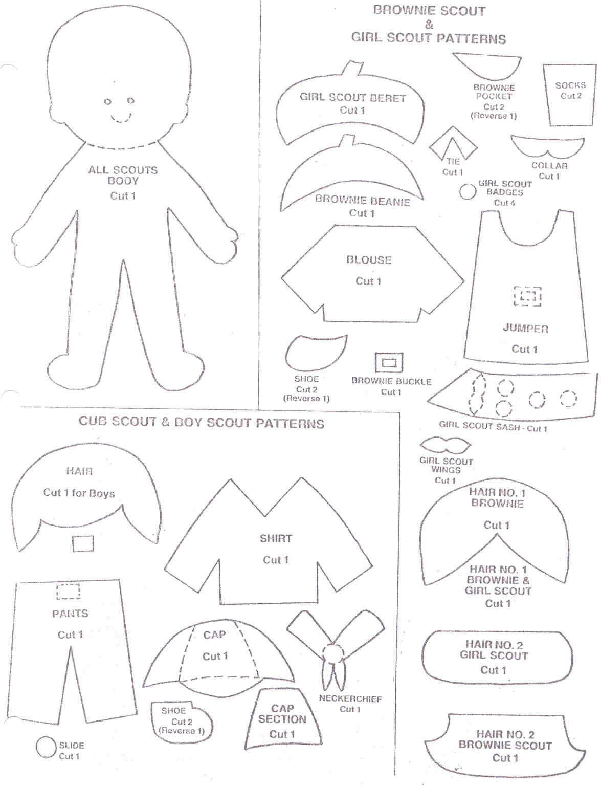 girl scout coloring pages Brownie girl scouts coloring pages