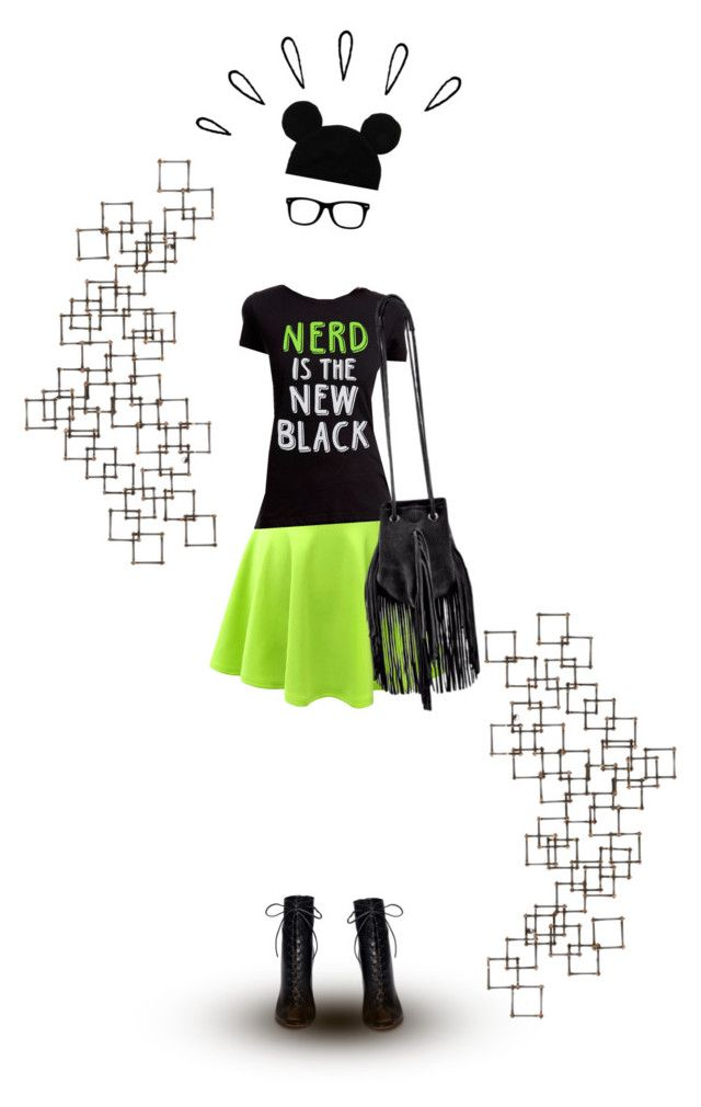 """""""Black & Neon"""" by divine-designer ❤ liked on Polyvore featuring Gianvito Rossi, Crate and Barrel, Old Navy and invisibledoll"""