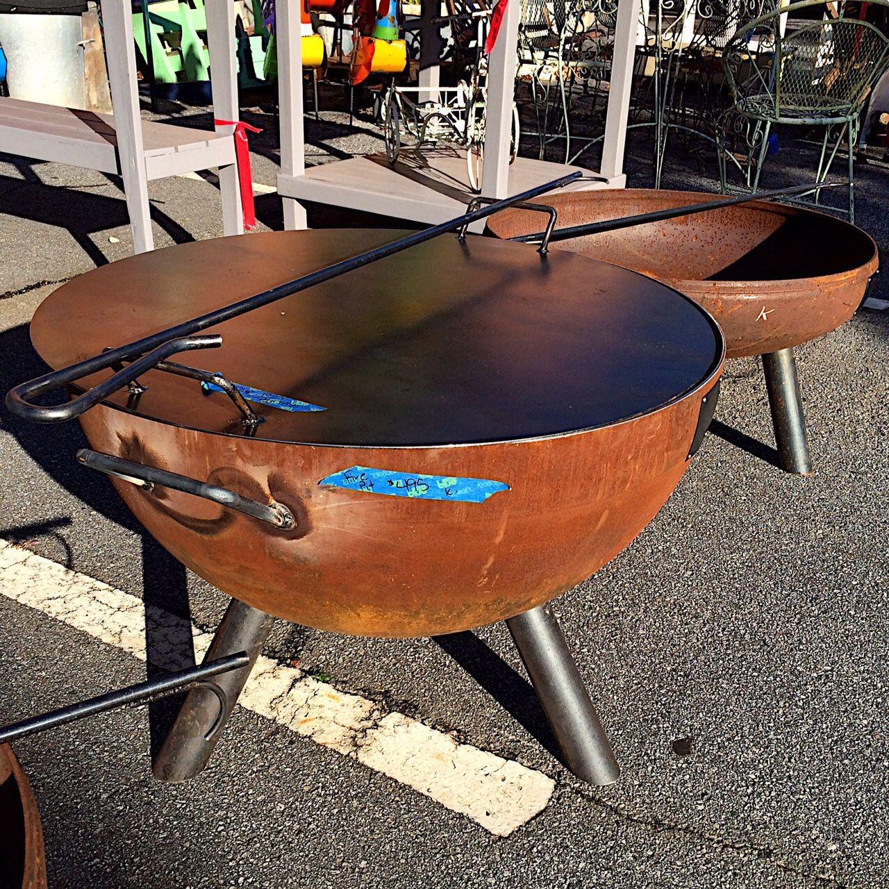 Custom Built Steel Fire Pit Steel Fire Pit Fire Pit Liner Custom Fire Pit