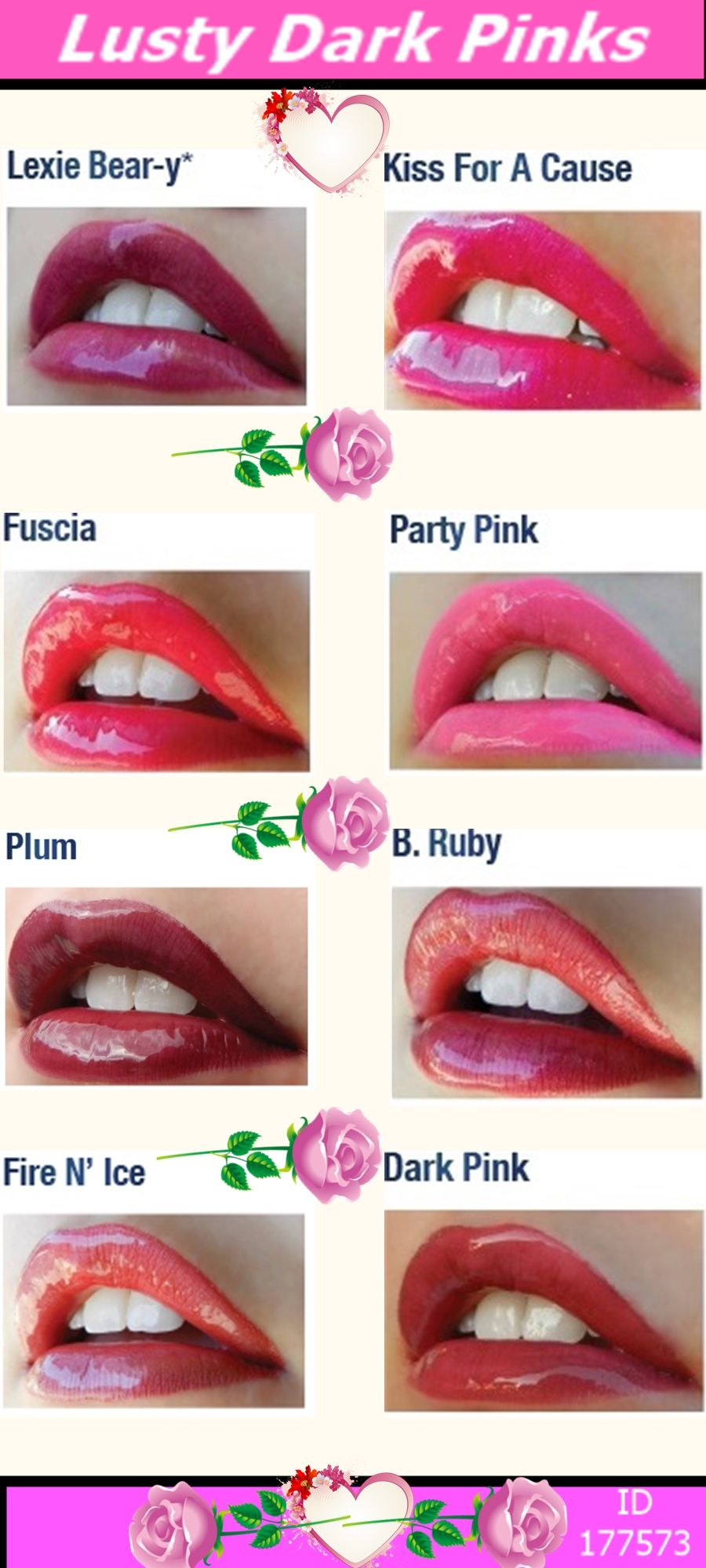 Dark Pink LipSense Lip Colour = Contact us for more info